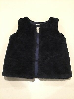 Near New Girls Country Road Navy Vest Size 8