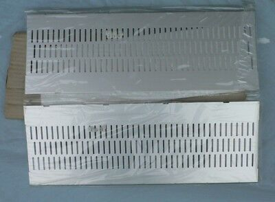 Pair of Ventilated Aluminium Dust covers for Vero KM6 Rack System RS 500-538