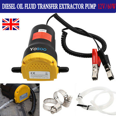 Electric 60W 12V Transfer Pump Extractor Oil Fluid Diesel Suction Car Motorbike