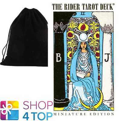 Miniature Rider-Waite Tarot Deck Cards Games Systems With Velvet Bag New