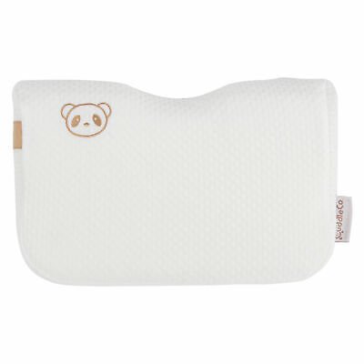 CuddleCo Toddler Kids Bamboo Hypoallergenic Memory Foam Moulded Pillow - White
