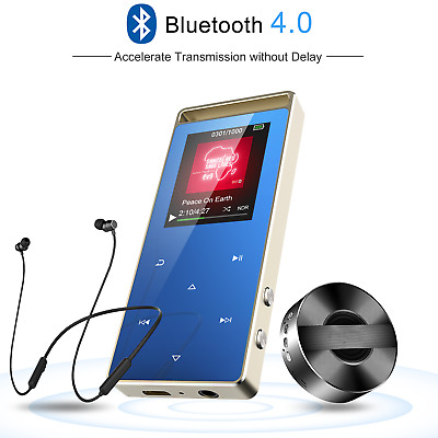 AGPTEK 8GB Bluetooth MP3 Player Portable Lossless Music Player FM/Voice Recorder
