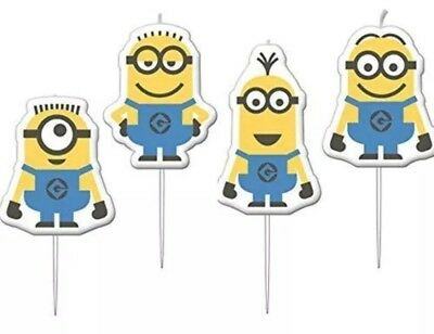 Despicable Me Party Minions Mini Figurine Candles Pack of 4 AMSCAN