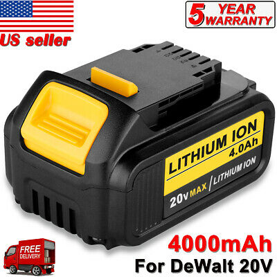 For DeWalt 20Volt Max XR 4.0Amp Lithium Ion Battery DCB204-2 NEW! Free Shipping