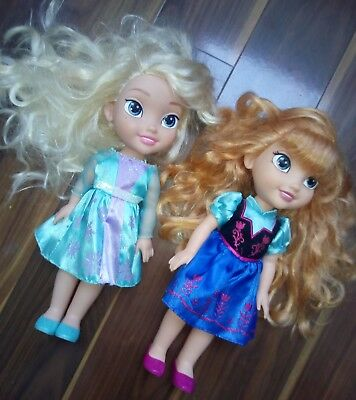 Frozen Elsa And Anna Toddler Dolls