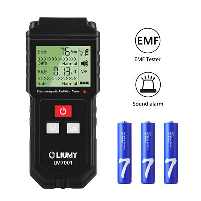 LIUMY Digital Electromagnetic Radiation Detector EMF Meter 1-1999V/m 0.01-99.99