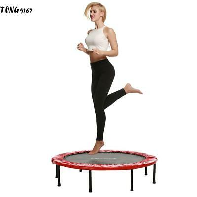 "Folding Round Trampoline Mat with V-Rings Gymnastic Exercise Fitness 37.4""*8.6"""