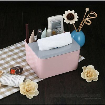 Tissue Box Toilet Paper Holder Storage Case Makeup Stationery Napkin B@