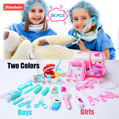 36Pcs Role Play Educational Doctor Medical Set Hospital Supplies Toy Boys Girls