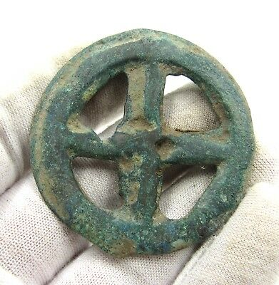 Authentic Ancient Celtic Bronze Sun Pendant Amulet - Wearable - E585