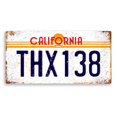 American Graffiti Number Plate Metal Wall Plaque Art Drama Classic Film License
