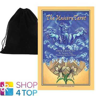 Unicorn Tarot Deck & Book Set Esoteric Us Games Systems With Velvet Bag New