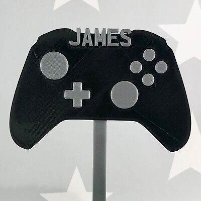 Gamer Gaming Video Game Controller Birthday Cake Topper Party