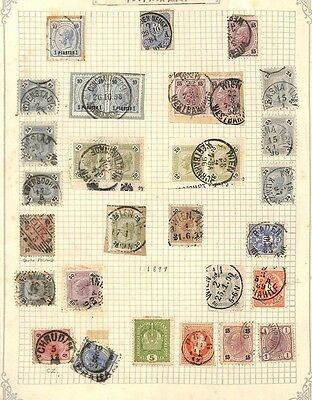 SA873 1890s AUSTRIA Postmarks Original Album page from old-time collection