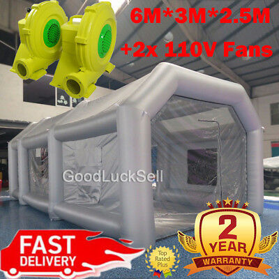 2.5M Inflatable LED Air Pump Photo Booth Tent Wedding Birthday Built-in Blower