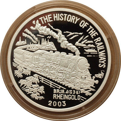 Korea - 7 won 2003 - The History of Railways - Rheingold - Silver 999 - Proof