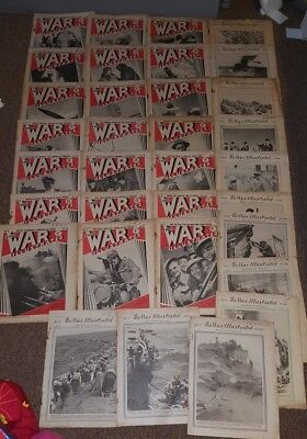 30 Copies THE WAR ILLUSTRATED WW2 WWII MAGAZINES SECOND GREAT WAR ALL DIFFERENT