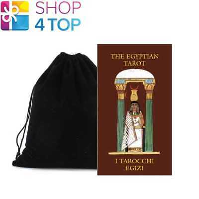 Egyptian Mini Tarot Cards Deck Esoteric Lo Scarabeo With Velvet Bag New