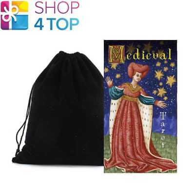 Medieval Tarot Deck Cards Esoteric Telling Lo Scarabeo With Velvet Bag New
