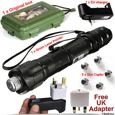 Professional Laser Pointer Presentation Kit Pen Lights Beam + Charger + UK Plug