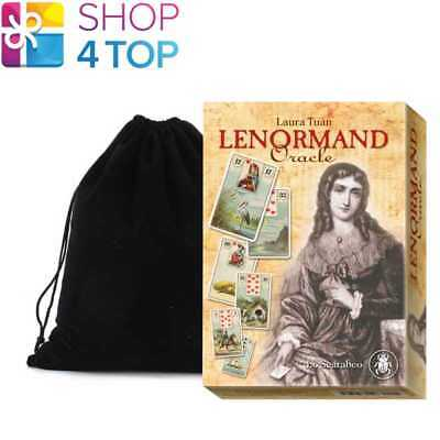 Lenormand Oracle Cards Deck Esoteric Laura Tuan Lo Scarabeo With Velvet Bag New