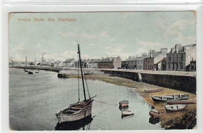 IRVINE FROM THE HARBOUR: Ayrshire postcard (C33396)