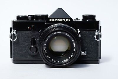 Olympus OM1 N 35mm SLR Film Camera with 50mm lens *NEW LIGHT SEALS*