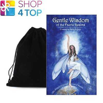 Gentle Wisdom Of The Fearie Realms Oracle Cards Deck Esoteric Agm Velvet Bag New