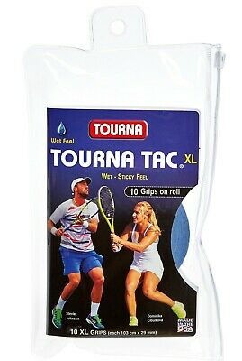 Tourna Tac XL 10 Pack Tennis Overgrip Blue - Free P&P