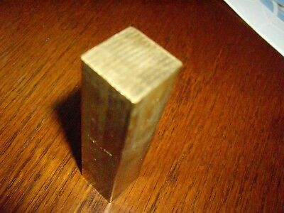 """3/4"""" x 3/4"""" C360 BRASS SQUARE BAR 3 inches long Solid .750"""" Flat Mill Stock H02"""