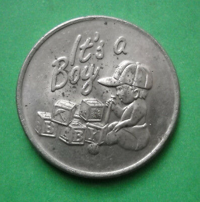 It's A Boy / It's A Girl token USA medallion Baby Shower coin flip