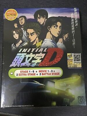Initial D Stage 1 - 6 + 3 Movie + 2 Extra Stage 2 Battle Stage (Region free DVD)
