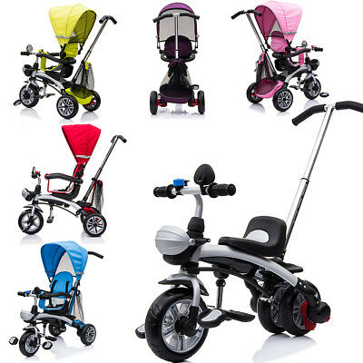 Kids 3 Wheel 4 in 1 Trike Tricycle Baby Bike Stroller Buggy Ride Parent Push Bar