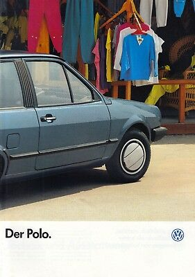 VW VOLKSWAGEN POLO II 2 Fox CL Coupe Youngtimer Prospekt Brochure 1987 77
