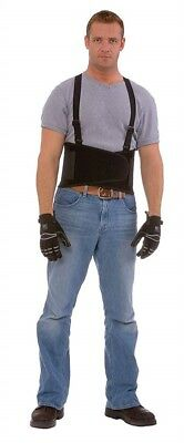 Cordova Black Back Support Belt with Suspenders Attached or Breakaway S-3XL