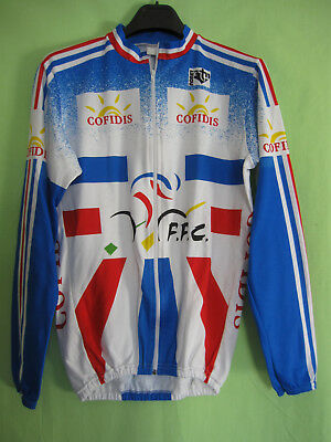 Maillot Cycliste Equipe France Noret Cofidis FFC vintage Cycles jersey - 3    M 33499f58d