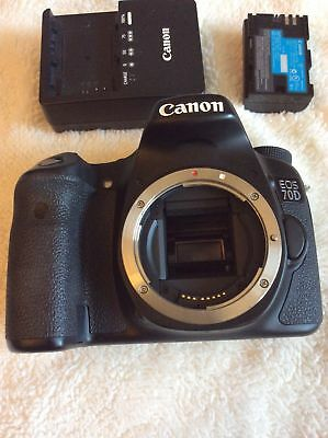 Canon 70D 20.2 MP Body Only- 6930 shutter counts