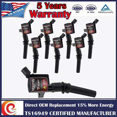 8 Pack On Plug Ignition Coils For Ford F150 Expedition Lincoln 4.6/5.4L V8 DG508