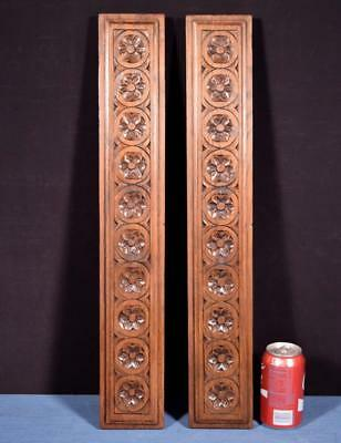 *Antique Breton Hand Carved Architectural Panels Solid Chestnut Salvage