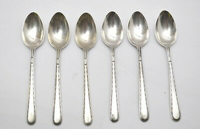 """Set of 6 1932 Miss America by Alvin Sterling Silver 4 1/4"""" Demitasse Spoons 70g"""