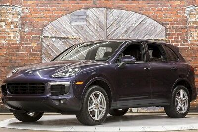 Porsche Cayenne Platinum Edition 17 Premium Pkg Plus LED Headlights PDLS Cam Heated Vented Seats Sunroof LDW LCA