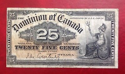 """1923 Dominion Of Canada 25 cents """"MeCavour&Sounders"""" GOOD"""