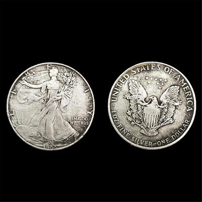 38mm Retro 1900 American Foreign Silver Commemorative Coin Collection Gift