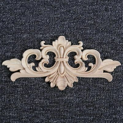 Wooden Applique Woodcarving Appliques Furniture Decal Carving Wood Decoration