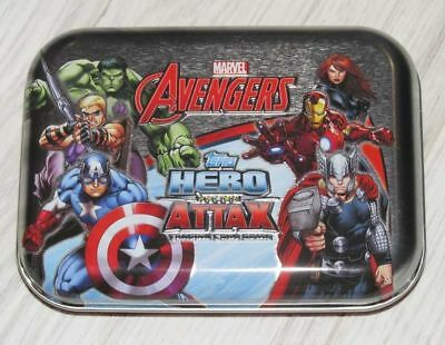 Topps Marvel Avengers Hero Attax Tin (Z-Box Exclusive) +Sealed Pack Cards inside