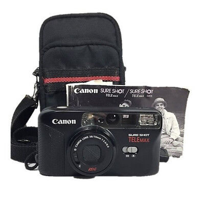 CANON Sure Shot Telemax~35mm Point & Shoot Camera~w/ Manual~Case~Strap~Tested