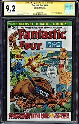 Fantastic Four #118 Cgc 9.2 White Pages Ss Stan Lee Signed Cgc #1508497008
