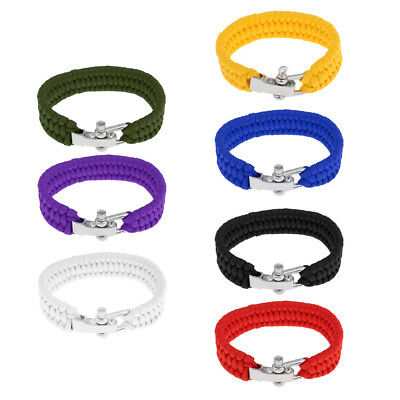 Outdoor Multifunction Survival Bracelet Wristband Rope Emergency Tool