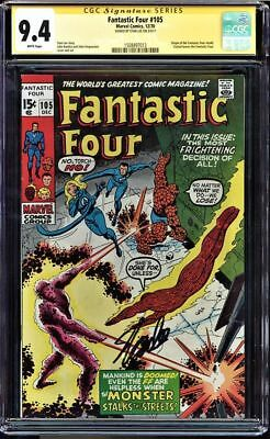 Fantastic Four #105 Cgc 9.4 White Pages Ss Stan Lee Signed Cgc #1508497013
