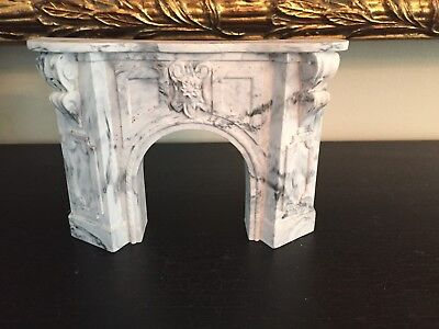 Dollhouse Furniture Miniature Marble Fireplace -  New